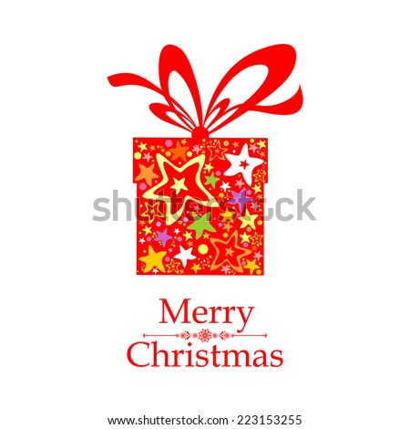Vintage Christmas Card. Celebration  background with gift boxes and place for your text. vector illustration  - stock vector