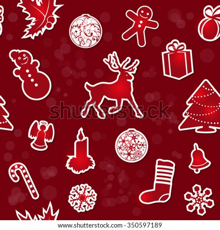 Vintage Christmas seamless background. EPS10 vector - stock vector