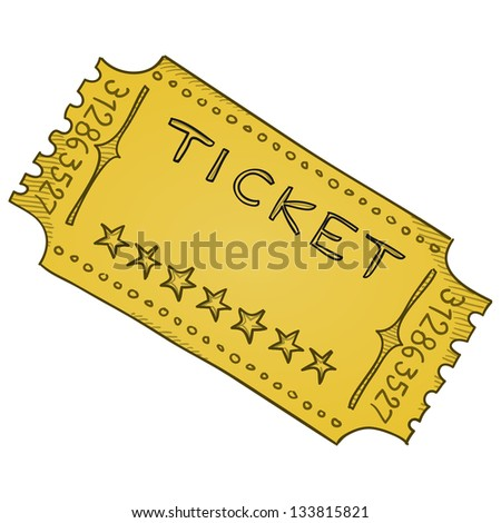 Vintage Cinema Ticket Vector Template Paper Vector 133815821 – Admission Ticket Template
