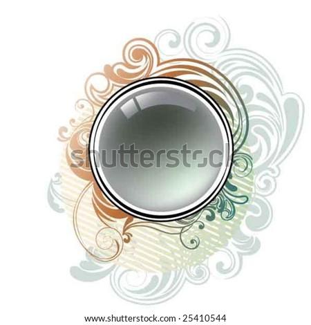 Vintage circle design - stock vector
