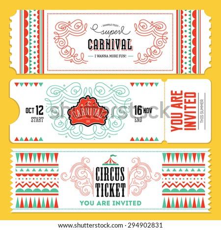 Circus Ticket Invitation Template Poesiafmtk - Ticket invitation template