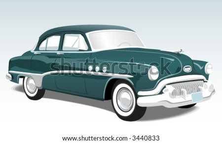 Vintage classic car illustration