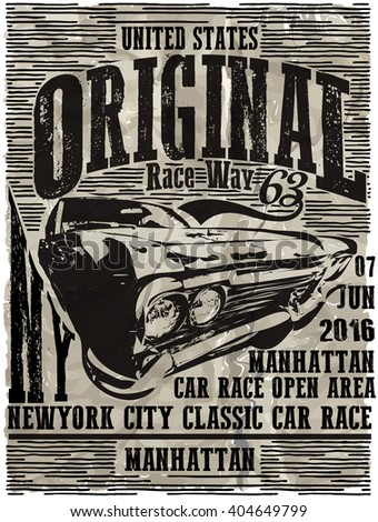 Vintage Classic Garage - Vector EPS10. Grunge effects can be easily removed for a brand new; clean sign. - stock vector