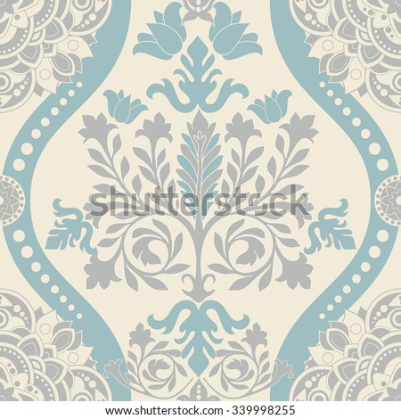 Vintage classic seamless pattern - stock vector