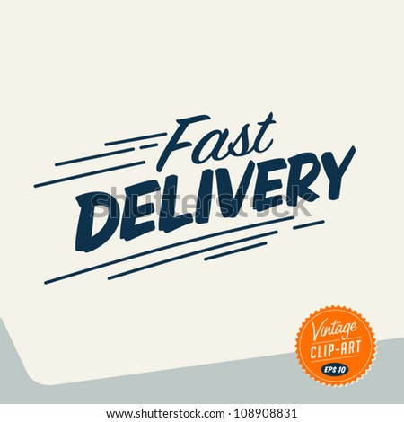 Vintage Clip Art - Fast delivery - Vector EPS10 - stock vector