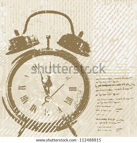 Vintage clock vector - stock vector