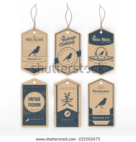 Vintage clothing tag - stock vector