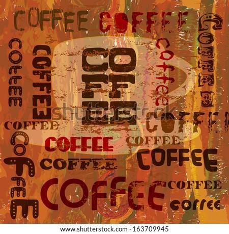 vintage coffee menu design, vector eps 10 - stock vector