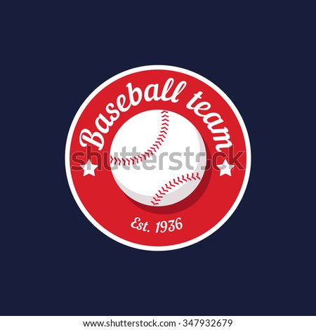 vintage color baseball championship logo or badge. Flat style design - stock vector