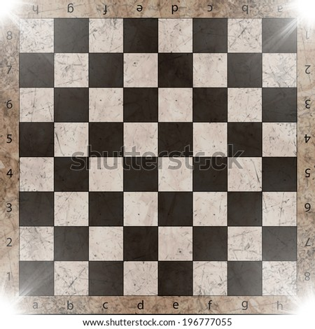 vintage crack old scratched empty chess board. abstract grunge background. EPS10.Vector - stock vector