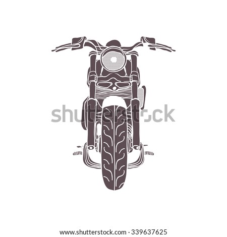 vintage cruiser motorcycle. muscle bike. Vector Isolated - stock vector