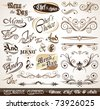Vintage Decorative Calligraphic Elements: Men?, Chef's Choice, The & Ands. - stock vector