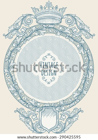 Vintage decorative design - stock vector