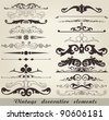 Vintage decorative elements - stock photo