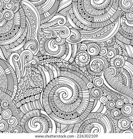 Vintage decorative ornamental seamless pattern - stock vector