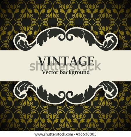 Vintage decorative vector background - stock vector