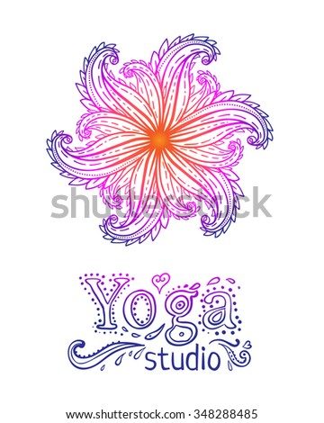 Vintage decorative vector elements isolated on white. Hand drawn. Indian, Hindu paisley motifs. Tattoo, spirituality, prints for t-shirts and other textiles. - stock vector