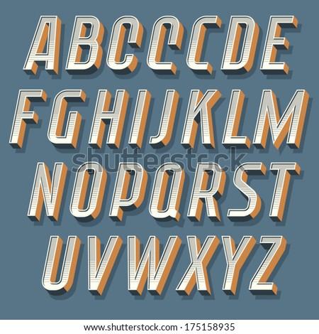 Vintage decorative vector italic font. Retro typography. - stock vector