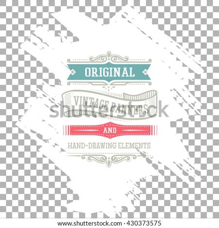 vintage design banner - stock vector