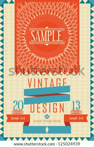 Vintage Design Card - stock vector