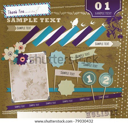 Vintage Design Element - stock vector