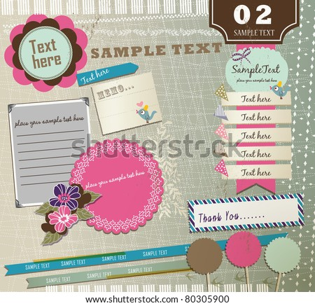 Vintage Design Elements (2) - stock vector