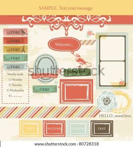 Vintage Design Elements (3) - stock vector