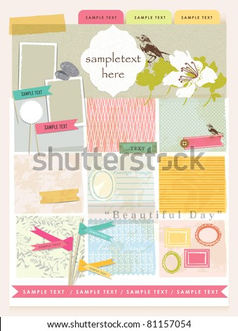 Vintage Design Elements (4) - stock vector