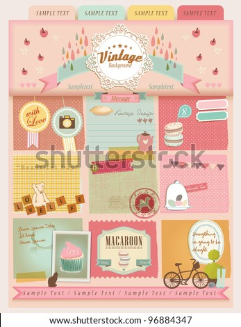 Vintage Design Elements (16) - stock vector