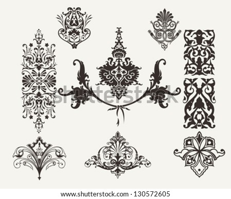 Vintage Design Elements And Page Decoration - stock vector