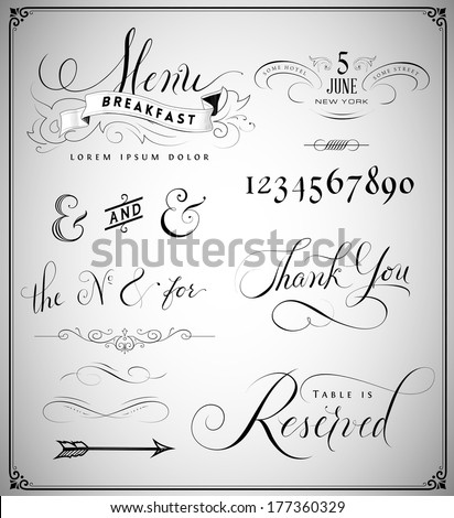 Vintage Design Elements Collection - stock vector