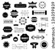 Vintage Design Elements. Labels In Retro And Vintage Style Isolated On White Background. Vector Illustration, Graphic Design Editable For Your Design. Logo Symbols - stock vector