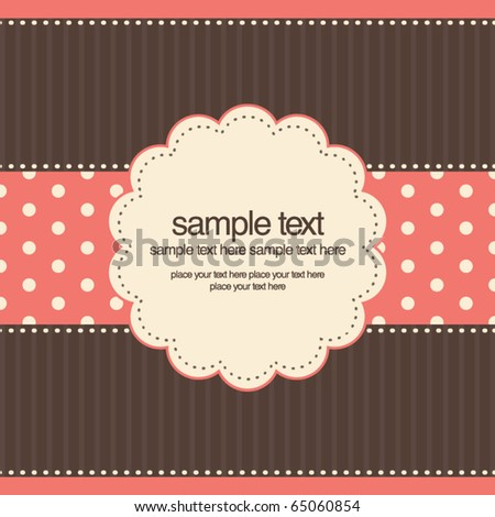 Vintage design for invitation or greeting card - stock vector