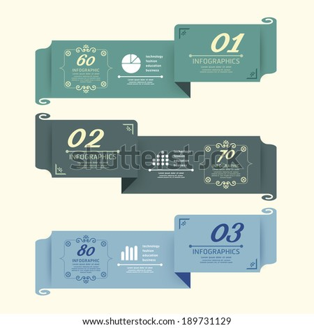 Vintage Design Labels infographic template / can be used for infographics / numbered banners / graphic or website layout vector - stock vector