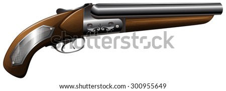 Vintage design of wooden shot gun
