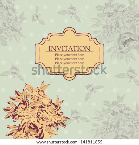 Vintage design postcard or invitation - stock vector