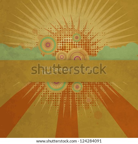 Vintage Design Template - stock vector