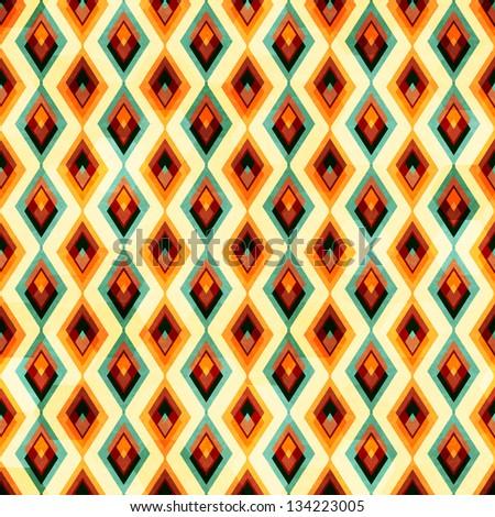 vintage diamond seamless pattern - stock vector