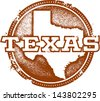 Vintage Distressed Texas USA State Stamp - stock vector