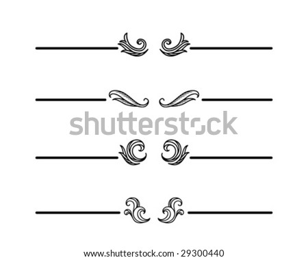 Vintage dividers - stock vector