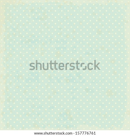 vintage dots background - stock vector