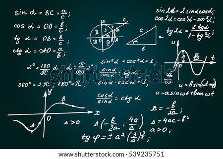 Vintage Education Background Math Law Theory Stock Vector 539235751 ...