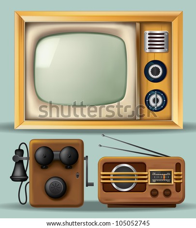 Vintage Electronics - stock vector
