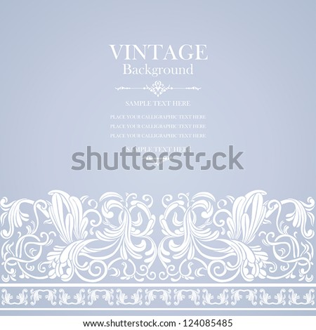 Vintage, elegant background, wedding luxury card, antique, victorian floral ornament, baroque frame, beautiful invitation, old style, ornate page cover, label, ornamental pattern template for design - stock vector