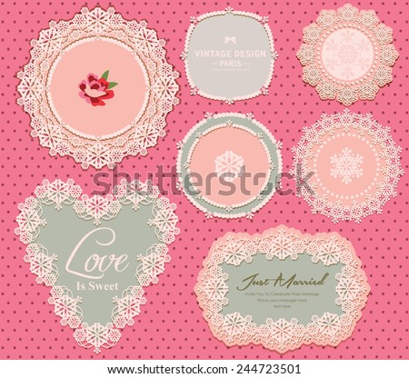 Vintage Elegant Label - stock vector