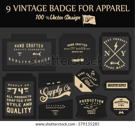vintage element badge label set 2