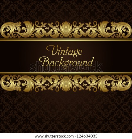 Vintage elements and seamless pattern - stock vector