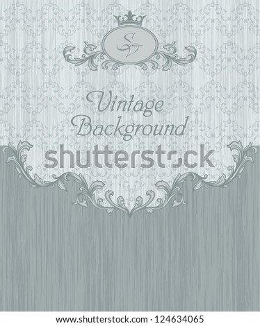 Vintage elements and seamless pattern