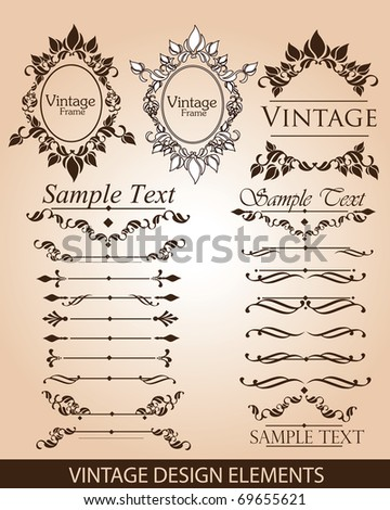 Vintage elements/Frames,dividers and ornaments