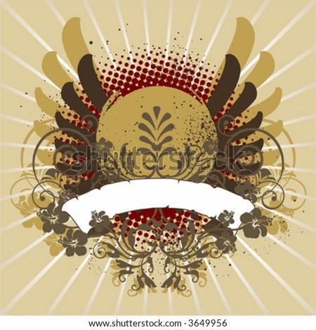 Vintage emblem, design element - stock vector